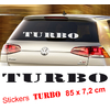 Stickers autocollant tuning TURBO pare soleil ou hayon