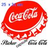 Stickers autocollant coca cola capsule pour déco cuisine snack restaurant...