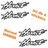4 Stickers autocollant tuning Honda Hornet