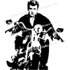 stickers Johnny Hallyday Harley Davidson