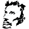 stickers Johnny Hallyday Portrait caricature