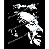 Stickers Johnny Hallyday en négatif