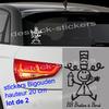 stickers bigouden breton Bébé à Bord lot de 2