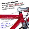 Stickers Sécurité cycliste vélo moto Votre Groupe Sanguin