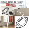Stickers ballon de rugby