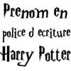 Stickers prénom ou mots écriture Harry Potter