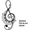 Stickers musique clé de sol clavier piano