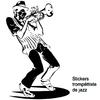 Stickers musique Jazz trompettiste