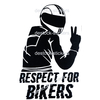 Stickers moto Motard Respect for bikers