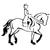stickers cheval dressage 2
