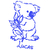 sticker stickers chambre enfant koala en bleu électrique