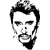 STICKERS JOHNNY HALLYDAY 02