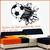 stickers ballon foot sortant du mur 58 x 69 cm