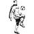 stickers zidane entier ballon