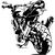 stickers arrière moto