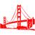 Stickers Golden Gate 2