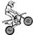 Stickers moto cross 06