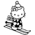 Stickers Hello Kitty au sports dhiver