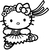 Stickers Hello Kitty en costume folklorique