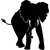 Stickers silhouette elephant 3
