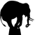 Stickers silhouette elephant 2