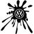 Stickers tuning Volkswagen tache de peinture