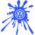 Stickers tuning Volkswagen tache de peinture 02