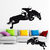 Stickers autocollant Cheval Cavalier Obstacle