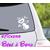 Stickers autocollant bébé à bord avec tétine