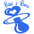 Stickers autocollant bébé à bord avec tétine bleu