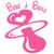 Stickers autocollant bébé à bord avec tétine rose