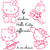 Stickers autocollants 4 Hello Kitty différents