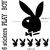 Stickers autocollant 6 Play Boy noir