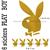Stickers autocollant 6 Play Boy doré mat