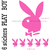 Stickers autocollant 6 Play Boy rose