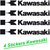 4 STICKERS KAWASAKI