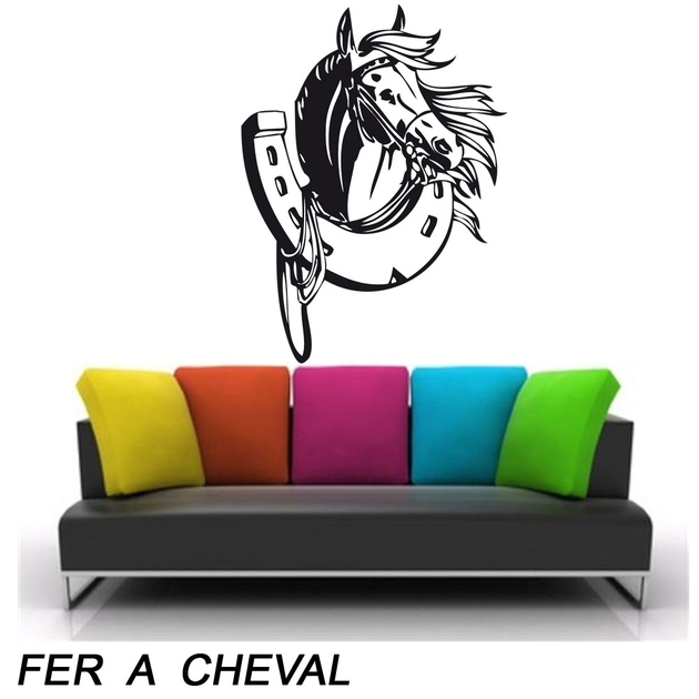 sticker fer cheval animaux chevaux destock stickers. Black Bedroom Furniture Sets. Home Design Ideas