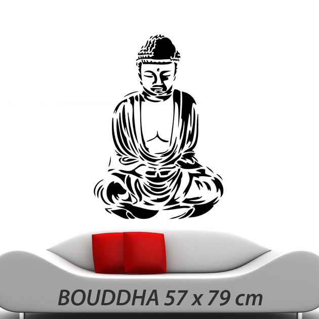 stickers zen bouddha d co de la maison destock stickers. Black Bedroom Furniture Sets. Home Design Ideas