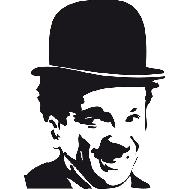 stickers charlot charlie chaplin c l bres star destock stickers. Black Bedroom Furniture Sets. Home Design Ideas