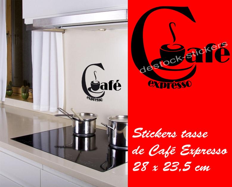 Stickers autocollant tasse de caf expresso 2 deco for Destock cuisine