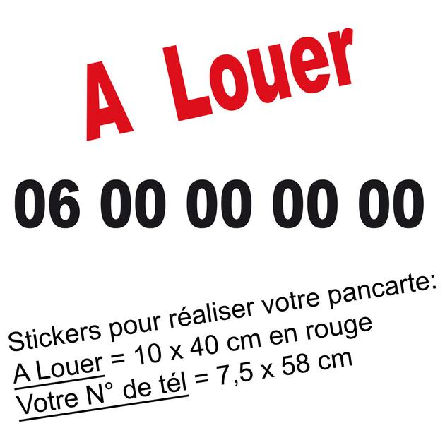 Stickers autocollant a louer textes phrases destock for Autocollant mural texte