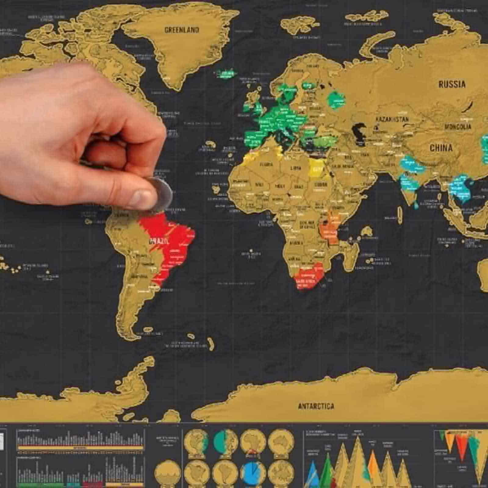 Carte du Monde à gratter | Franck de Lesdema