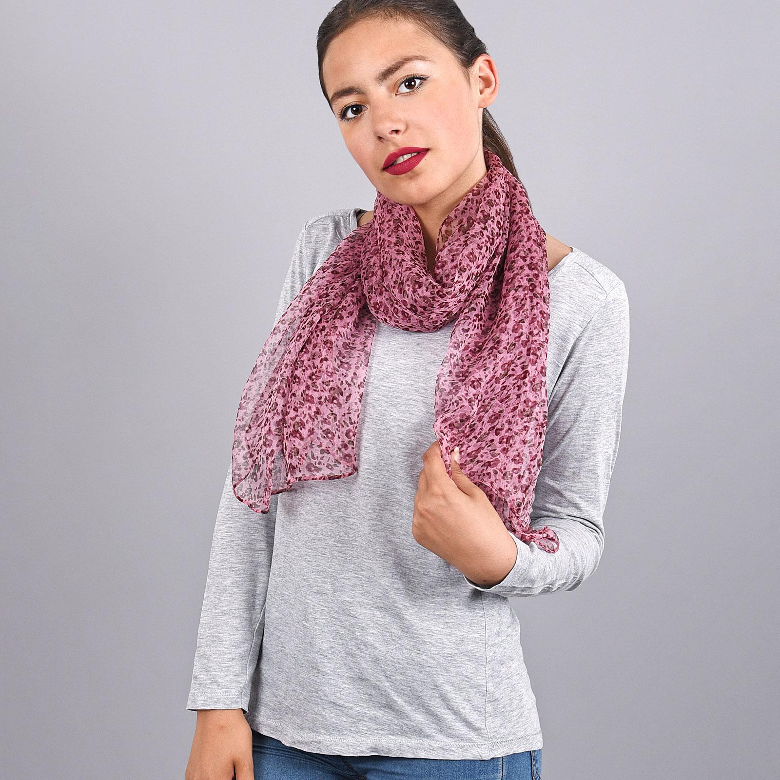 AT-03740-VF16-foulard-mousseline-soie-fines-fleurs-rose-violine