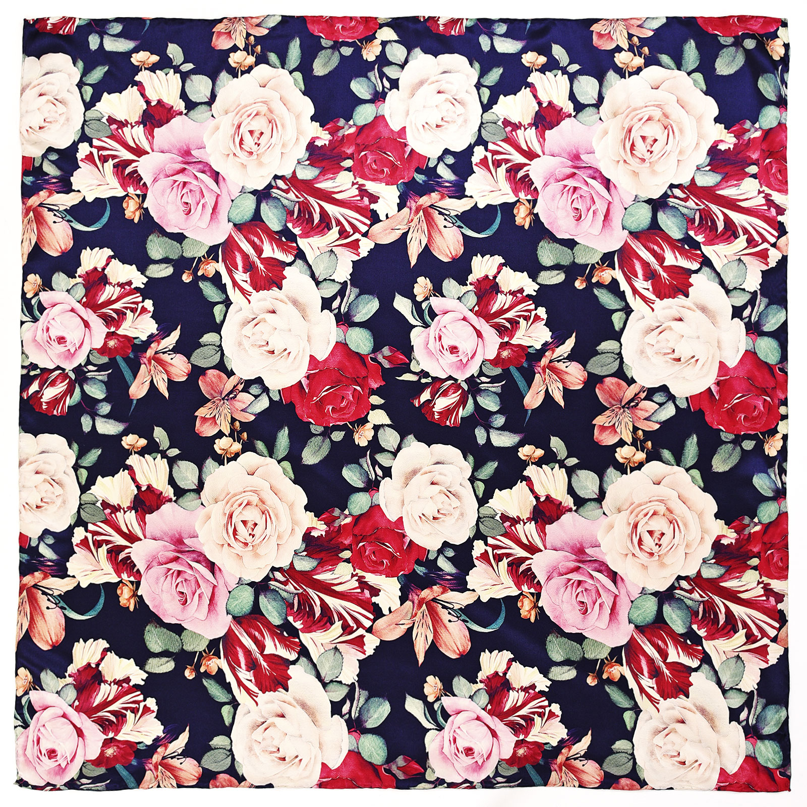 AT-04038-A16-carre-de-soie-fleurs-vintage-marine