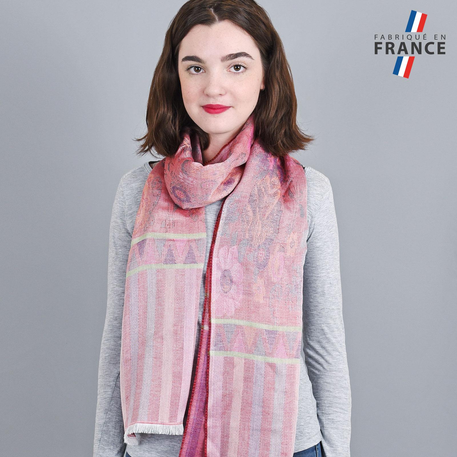 AT-04232-VF16-LB_FR-echarpe-legere-fabriquee-en-france-bandes-fleurs-rouge-pourpre