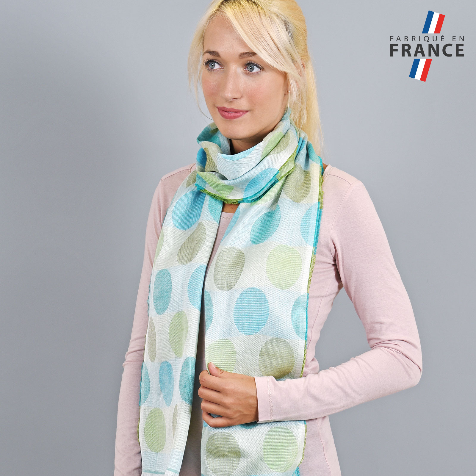 AT-04285-VF16-LB_FR-echarpe-legere-bulles-bleu-vert-fabrique-en-france