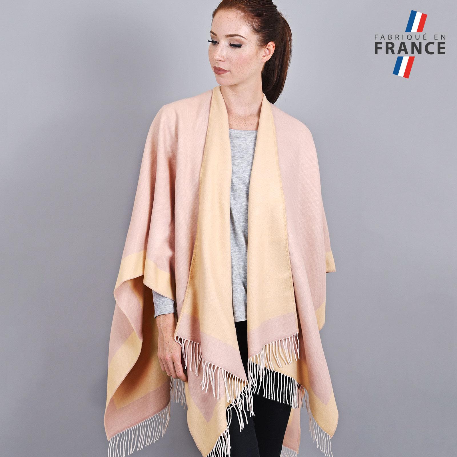 AT-03205-VF16-1-LB_FR-poncho-a-franges-creme-rose-fabrication-france