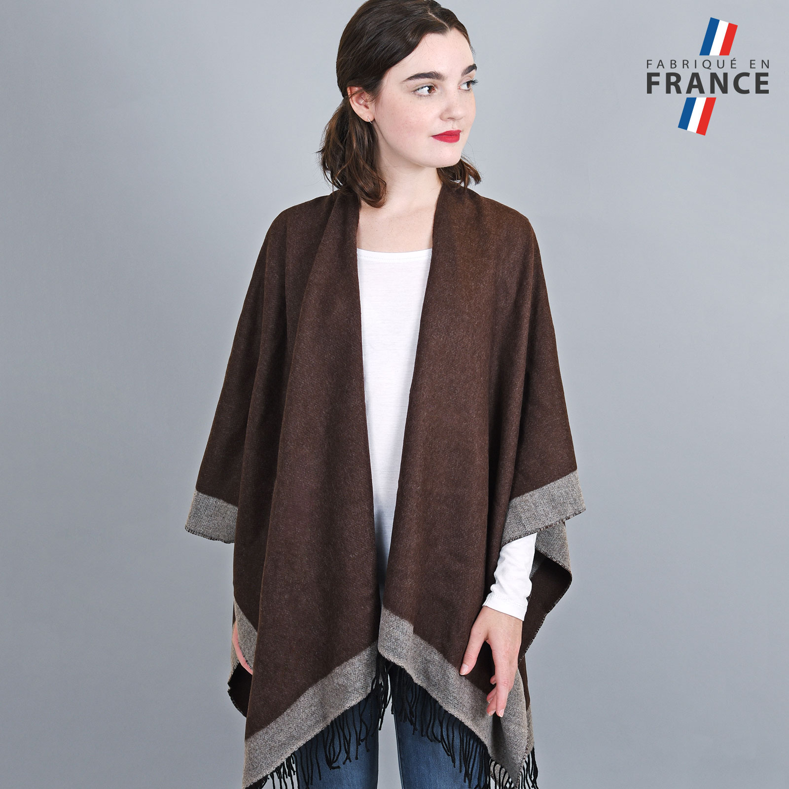 AT-03204-VF16-LB_FR-poncho-a-franges-marron-gris-fabrication-france