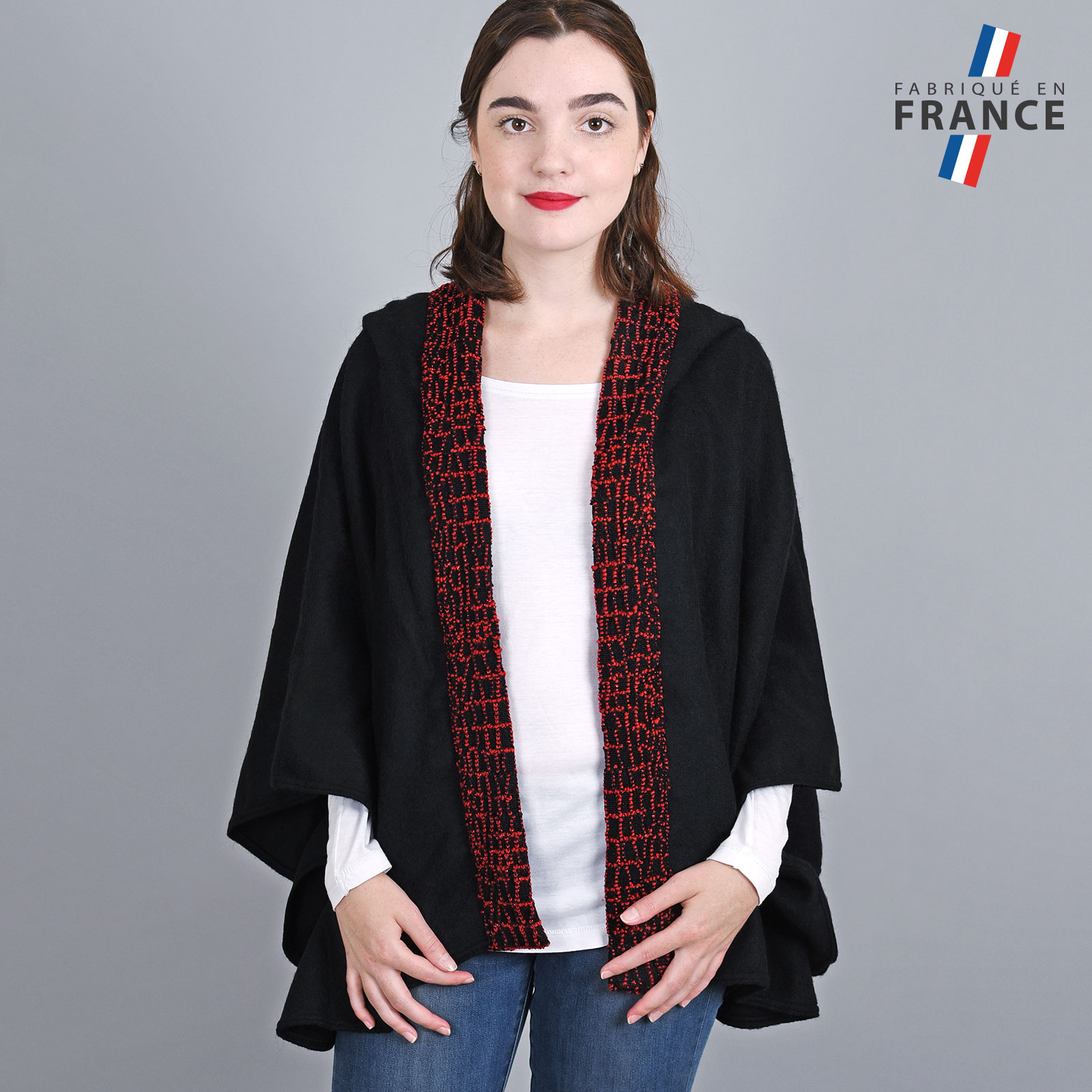 AT-03247-VF16-1-LB_FR-poncho-femme-a-capuche-perles-rouge-fabrication-francaise