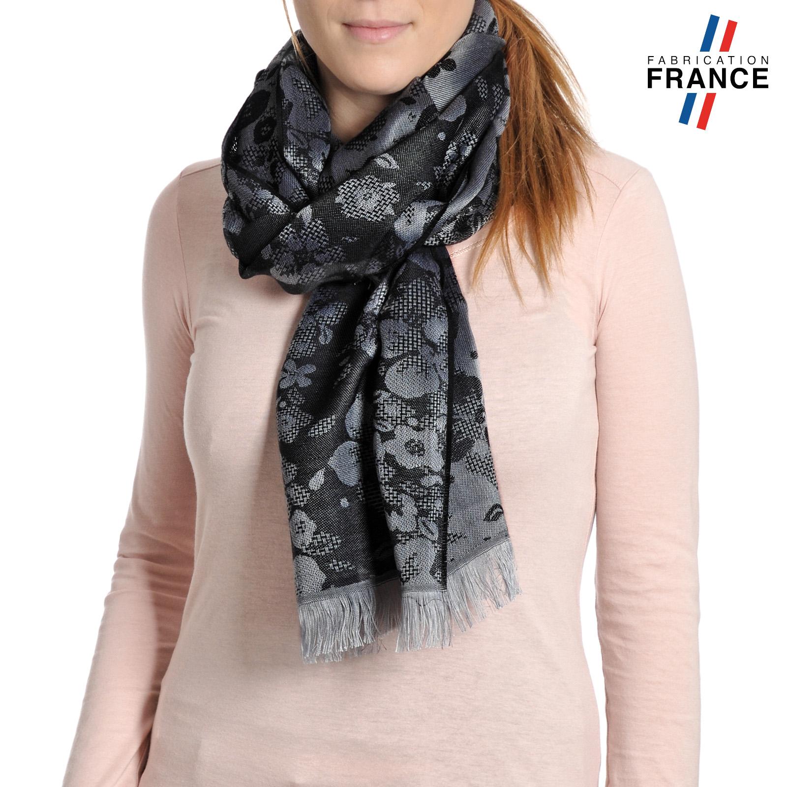 AT-04249-VF16-P-LB_FR-echarpe-femme-noire-trefles-fabrication-france